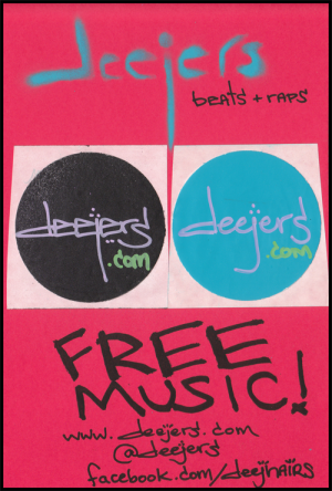 deejers flyer - use bright colors and large text for the most effective flyers.